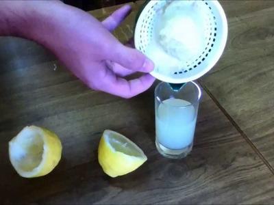Experimento tinta invisible (con zumo de limón)