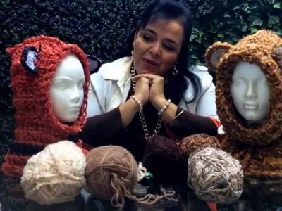 Gorros de animalitos - Tejido con dedos - Tejiendo con Laura Cepeda -