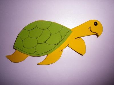 Manualidades, tortuga con goma eva, DIY, foam tortoise, turtle foami