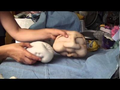 Muñecos soft . Ideas de tamaños de cara para muñecas de 1 metro . .proyecto 115