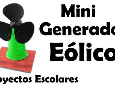 Proyectos Escolares | Mini Generador Eólico Casero (muy fácil de hacer)