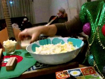 Recetas navideñas SIN usar horno - Ensalada de Manzanas