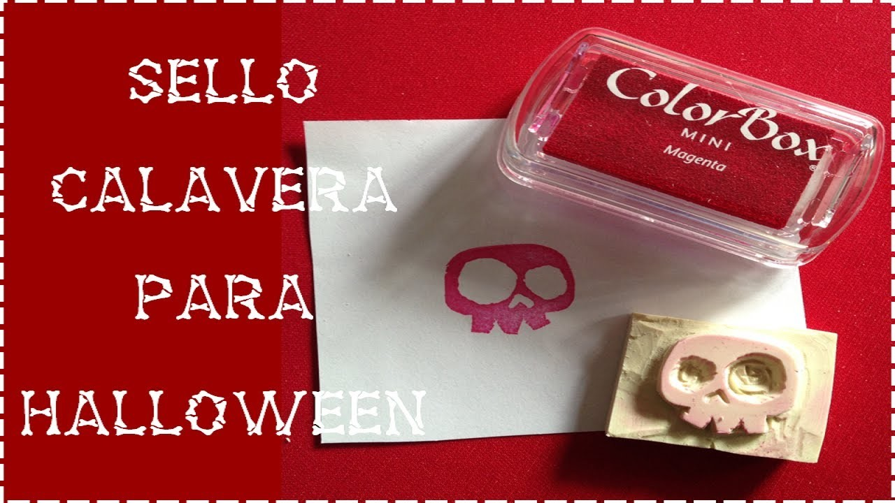 Sello calavera para Halloween - Manualidades DIY