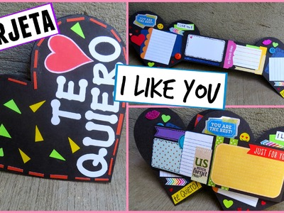 TARJETA EXPANDIBLE-I LIKE YOU♥ (TUTORIAL)