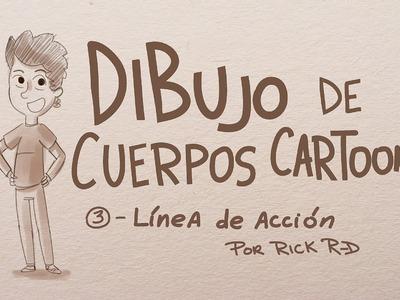 Tutorial: Como dibujar linea de acción para los cuerpos cartoon en movimiento por Rick R-D