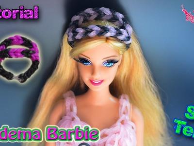 ♥ Tutorial: Diadema para Barbies o Muñecas de gomitas (sin telar) ♥