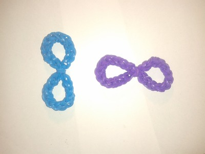 ♥ Tutorial: número 8 (e infinito)  hecho con gomitas (sin telar) ♥