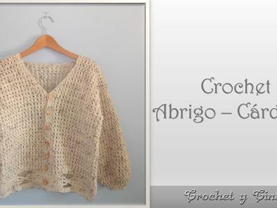 Abrigo – Chaleco en punto cruzado para mujer tejido a con gancho (crochet) - Parte 2