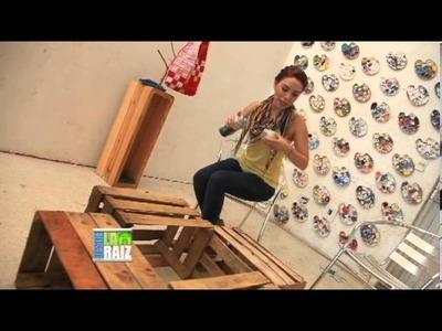Adri Villarreal Desde La Raiz - Mesa de centro de cajas de madera