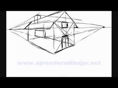Como dibujar una casa en 3d - Dibujos de casas en perspectiva