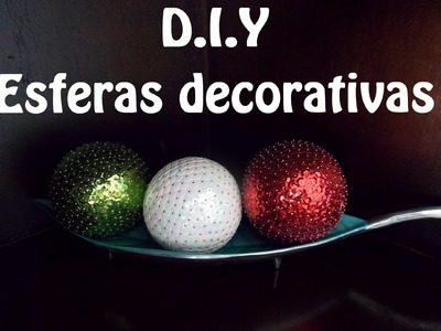 Como hacer esferas decorativas con lentejuela. Fácil, bonitas y económicas DIY