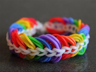 Como hacer pulseras de gomitas triple cadena sin telar
