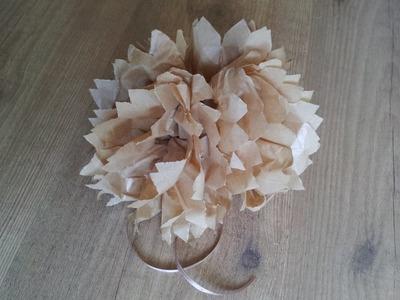 Cómo hacer un pompón de papel en forma de flor | facilisimo.com