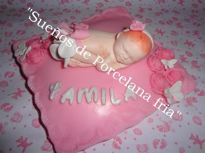 Como utilizar el molde del bebe -Bebe en almohadon  porcelana fria(parte 1)