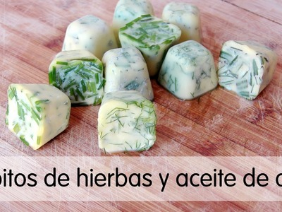 Cubitos de hierbas aromáticas y aceite de oliva virgen extra