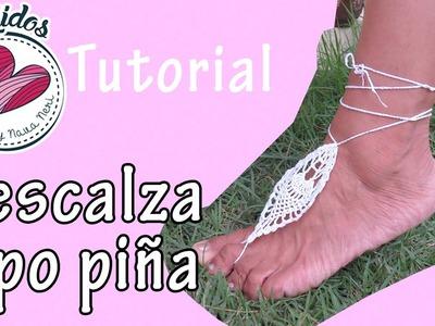 Descalza - Sandalia sin suela a crochet TUTORIAL