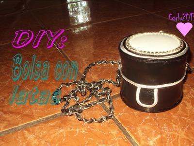 DIY: Bolsa con latas. Inspiración Chanel. [Carlu2013]