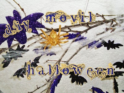DIY | MOVIL DE MURCIÉLAGOS | HOW TO MAKE A HALLOWEEN MOVILE? - YuureYCrafts