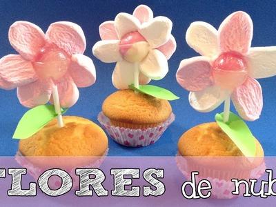 Flores de nubes o malvaviscos | Dulces para fiestas infantiles