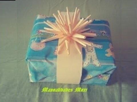 Manualidades. Figura estrella para decorar tus regalos