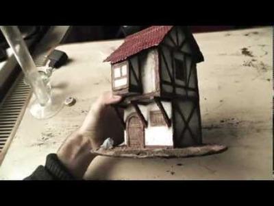 Maqueta de una casa medieval