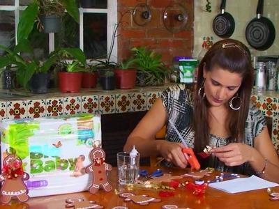 Muñeco de jengibre utilizando carton