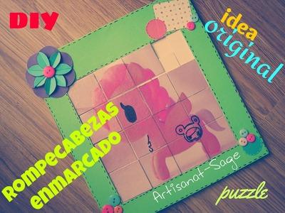 Rompecabezas enmarcado.puzzle- DIY (gift idea)