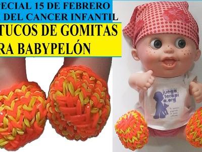 ZAPATOS O PATUCOS DE GOMITAS PARA MUÑECO BABYPELON DE GOMITAS CON TENEDORES
