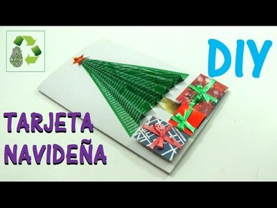 141. DIY TARJETA NAVIDEÑA (RECICLAJE DE PAPEL)