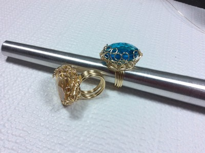 Anillo con Cristal Azul