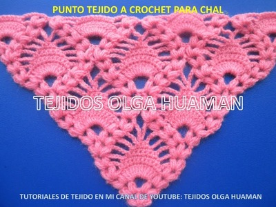Chal tejido a crochet o ganchillo video 1
