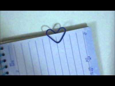 ~Clip En forma De Corazón ♥ o Separador de libros (facil)