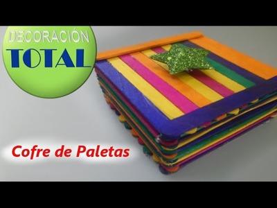 Cofre de Paletas de Helado - Manualidad fácil para hacer con los niños