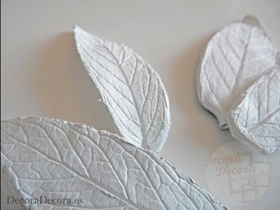 Cómo hacer hojas de arcilla.