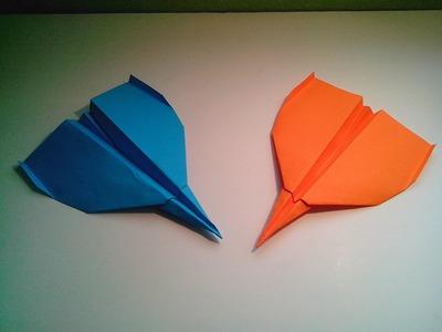 Como hacer un avión de papel rápido (origami)