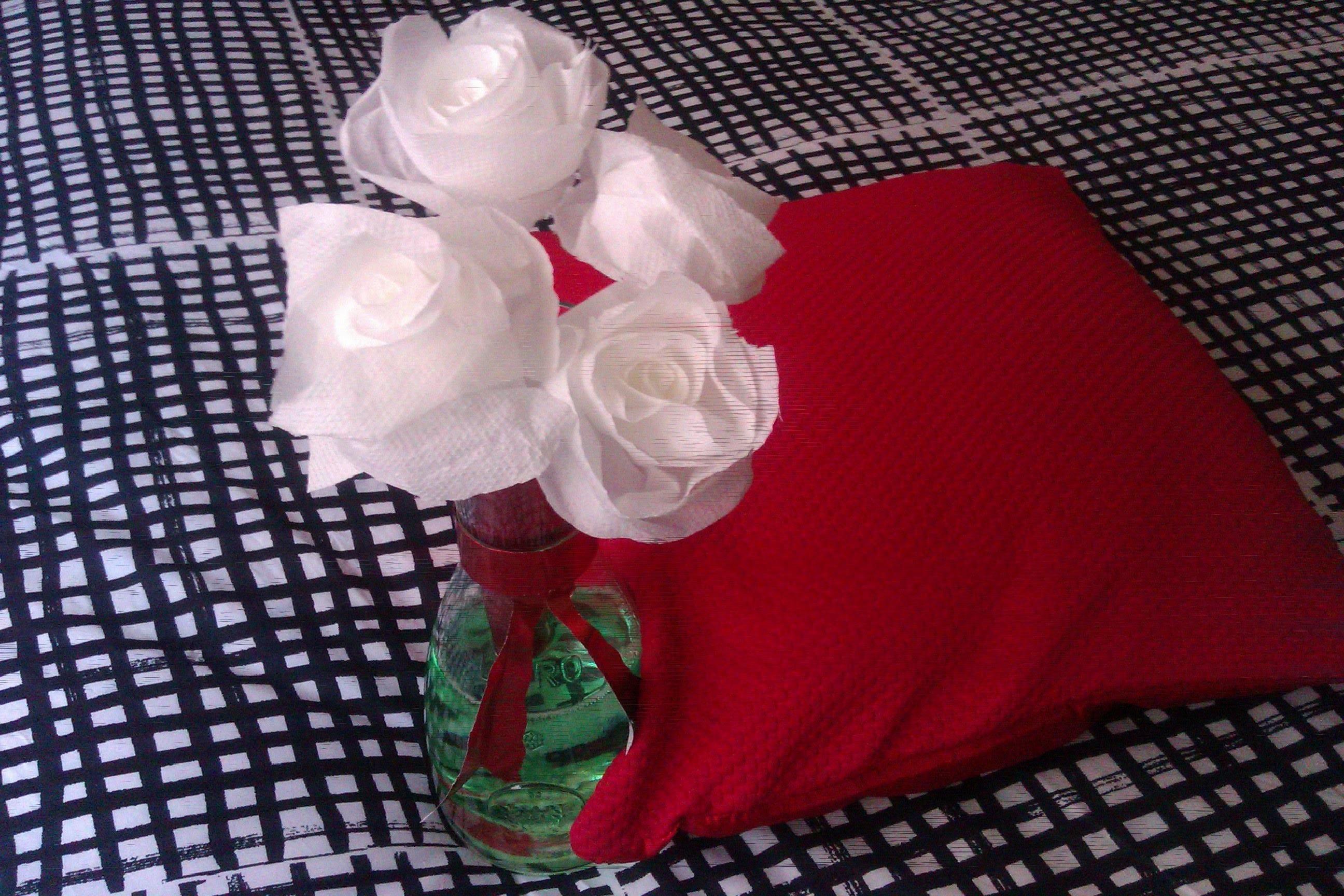 Como hacer una rosa con papel servilleta