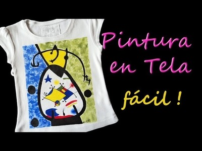Como Pintar Camisetas Facil Tutorial Como Pintar en Tela *Paint on Fabric*Pintura Facil