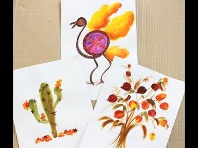 Como pintar tarjetas - Esmaltes al agua Eterna - Ana Gjurinovich