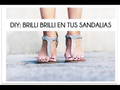 DIY Brillo en tus sandalias