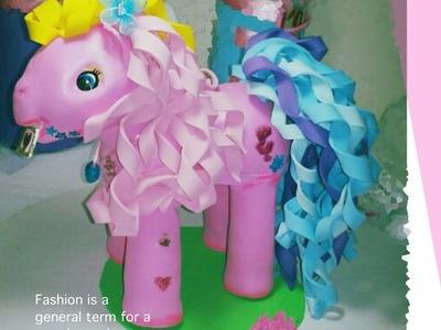 DIY Como Hacer Fofucho Pony letters