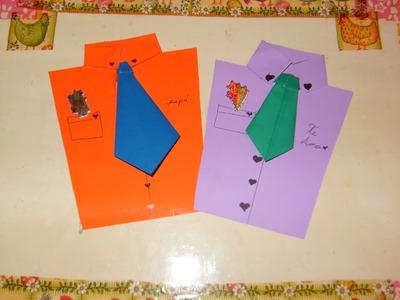 DIY Cómo hacer una tarjeta Camisa, para el día del padre