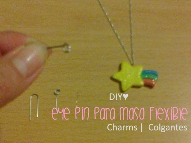 DIY♥ Eye Pin para accesorios de pasta de sal o masa flexible | Charms