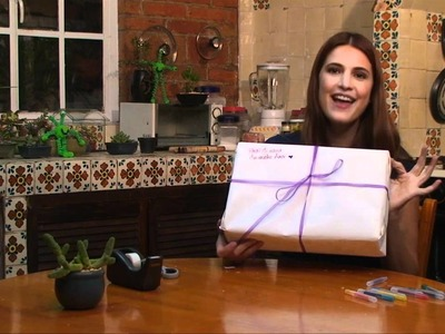 Envoltura para regalo personalizada