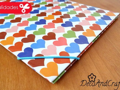 Folder. Carpeta decorada para uso diario - DIY - DecoAndCrafts