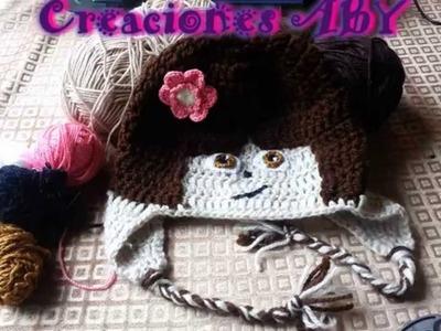 Gorro de Dora la Exploradora a Crochet