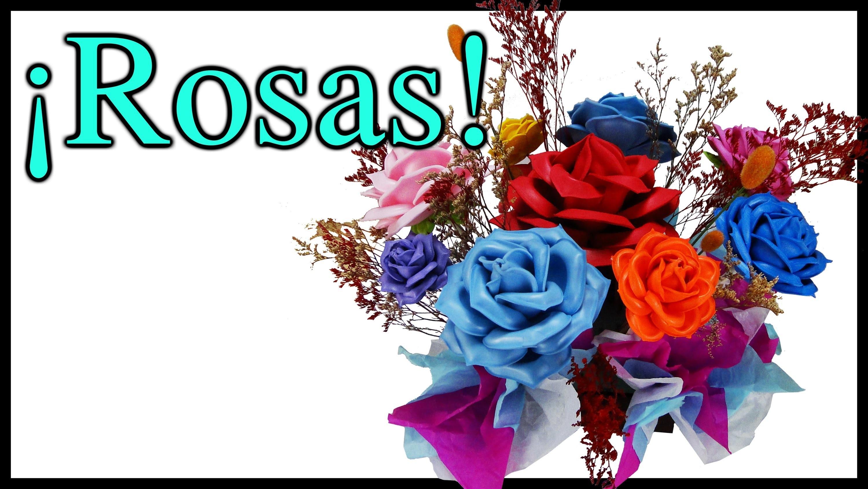¡Centro de Mesa con Rosas para toda ocasión! Hecho con Fomi y Moldes de Flores
