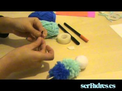 Manualidades: muñeco de nieve de lana y papel