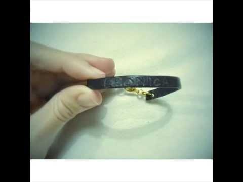 Pulsera de moda.Tutorial pulsera de cuero grabada con nombre. Bracelet handmade. Hand stamped