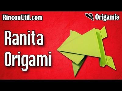 Rana de papel | Rana origami | Rana papiroflexia