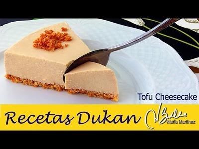 Recetas con Tofu: Tarta Dukan de queso y tofu . Dukan Tofu Cheesecake